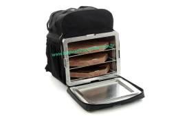 Mochila bag brasil com grade divisória para pizza entregas
