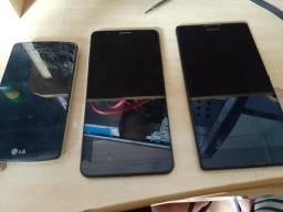 3 celulares para peças