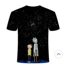 2 unid. Rick e morty animes camisetas