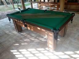 Mesa Charme Carlin Cor Imbuia Tecido Verde Mod. UVJW7603