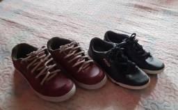 2 Pares de sapatos infantis por 70,00