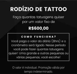 Título do anúncio: Rodízio de tatuagem