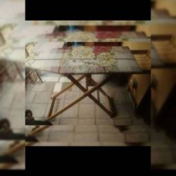 Mesa e ferro a vapor