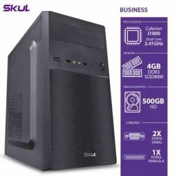 computador dualcore j1800 2.41ghz 4gb ddr3hd 500gb 2 serial 1 paralela 200w