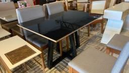 Título do anúncio: Mesa de madeira e madeira na pintura laka