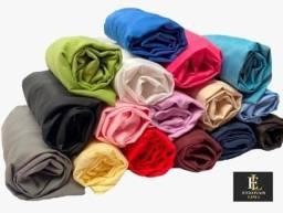 Título do anúncio: promoção jogo de lençol avulso casal padrão liso 1,38 x 1,88 c/20cm