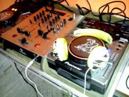 Vendo ou troco Par de CDJ 400 Pioneer + Mixer + Case Maleta (Fotos reais)