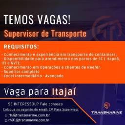 Título do anúncio: Supervisor de Transporte