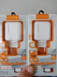 Carregador de celular turbo 5.1 pra todas as marcas de celular tipoc e v8