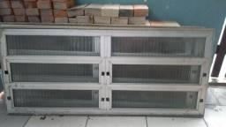 Portas e janelas alumínio usada