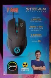 Título do anúncio: Mouser gamer original flakes power 6 botões com 2 anos de garantia. LEIA A DESCRIÇÃO