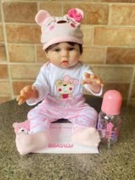 Título do anúncio: Linda Boneca Bebê Reborn toda em Silicone Realista Nova Original (aceito cartão )