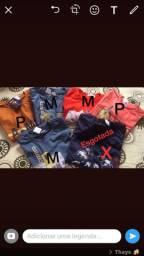 Camisas tamanhos P e M