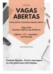 Título do anúncio: Vagas Abertas Estágio Telemarketing