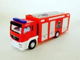Título do anúncio: Miniatura Caminhão Man TGS - Corpo de Bombeiros ? California Junior Truck - 14 cm