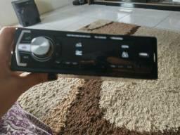 Rádio blutooth auxiliar painel troca de cores