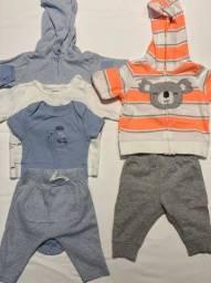 Vendo kits de roupas Carter?s bebê menino 0-3 meses