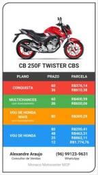 Moto cb twister 250 cbs modelo 2021
