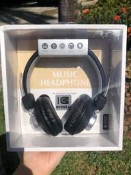 Fone de Ouvido com Microfone - Headphone SuperBass - Com fio P3 Stereo