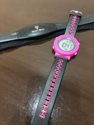 Relógio esportivo e monitor cardíaco Gonew Rosa