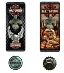 Abridor De Garrafa Cerveja Harley Davidson Parede + Brinde
