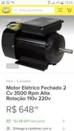 Vendo motor elétrico alta rotação