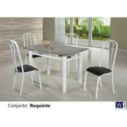 Vendo mesa 4 cadeira de mármore