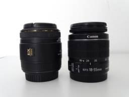 Lentes canon sigma 50mm e 18/55