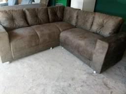 Promoçao sofa de canto de almofadas soutas pra vende logo zap *