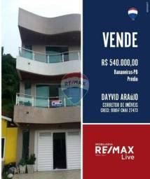 Apartamento com 6 dormitórios à venda, por R$ 590.000 - Centro - Bananeiras/PB