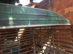 Barco chato 3 metros alumínio, borda alta - 2010