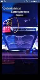 Amplificador Valvulado bugera + caixa buguera 4x10 (alto falante cerâmica)