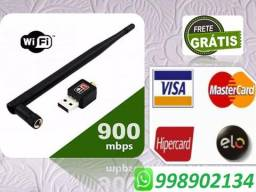 Adaptador Antena Wifi Usb 600 Mbps Wireless N Pc Notebook (entrega grátis)