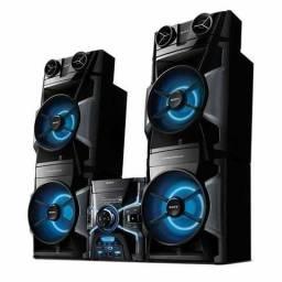 Mini System Sony Genezi MHC-GPX8 com MP3, Duplo USB, LED Speaker e Ripping ? 1.200 W