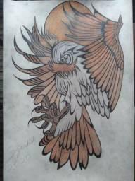 Vendo Desenhos Artísticos Feitos à Mão Livre, Com Preços Acessíveis