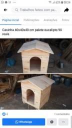 Casinha de paletes UNICA PEÇA