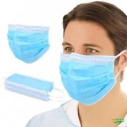Máscara Tripla Proteção Descartável Pacote com 20 unid. Importada
