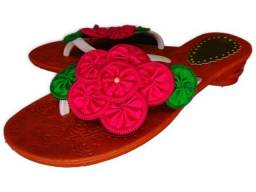 Rasteirinha flor de ziper Rosa