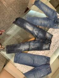 Título do anúncio: 3 calças jeans TAM 2