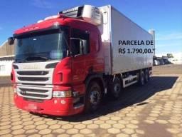 Scania P310 bitruck 2015 com baú câmara fria e equipamento de refrigeração