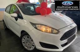 Ford New Fiesta Hatch 1.5 Mec. 2014 + GNV. Entrada a partir de 7.500,00 + 48x de 649,99