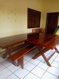 Super oferta mesas novas de madeira de lei