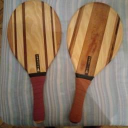 Título do anúncio: Raquetede frescobol de madeira