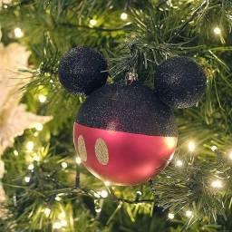 Título do anúncio: Bolas de Natal Silhueta Mickey