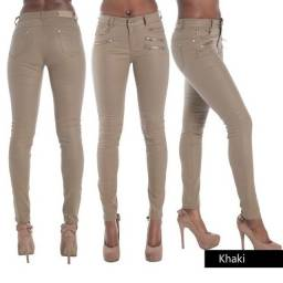 Título do anúncio: Skinny Calça legging feminina em couro