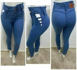 Promoções de calças jeans.