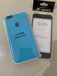 Case original para iPhone + película 3D