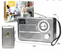 Título do anúncio: Caixa de Som Rádio Retrô Mp3 USB e Sd Altomex Ad-1707T