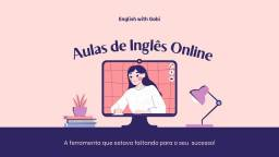 Título do anúncio: Aulas de Inglês Online Particular