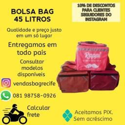 Bag 45L entregas todo Brasil com frete MotoboyToca sedex
